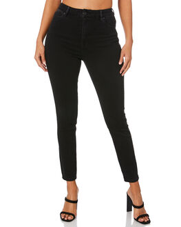 BLACK WOMENS CLOTHING SILENT THEORY JEANS - 6093133DEN