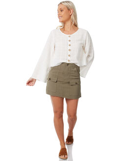OLIVE WOMENS CLOTHING THE HIDDEN WAY SKIRTS - H8183472OLIVE