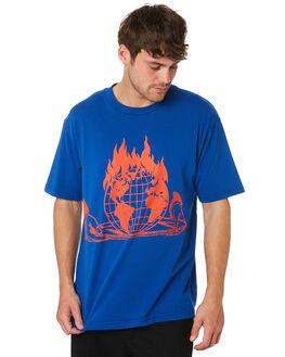 ROYAL BLUE MENS CLOTHING OBEY TEES - 167291736RYL
