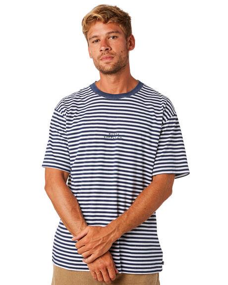 NAVY BLUE MENS CLOTHING RUSTY TEES - TTM2104NVB