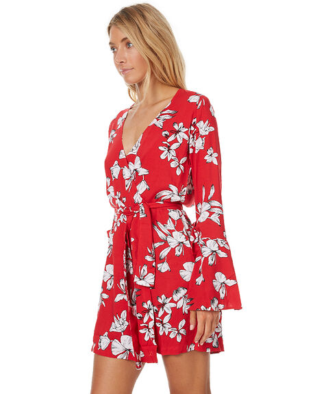 RED FLOWER WOMENS CLOTHING RUE STIIC DRESSES - CC34RED