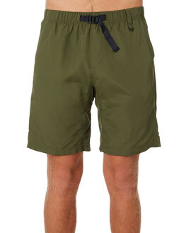 OLIVE MENS CLOTHING DEPACTUS BOARDSHORTS - D5202234OLIVE