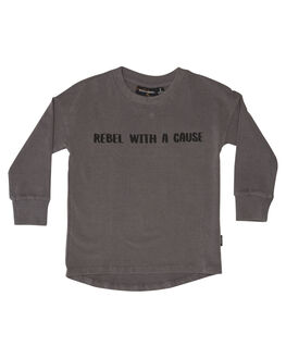 GREY WASH KIDS TODDLER BOYS ROCK YOUR BABY JUMPERS - TBT1863-RWGRYWH