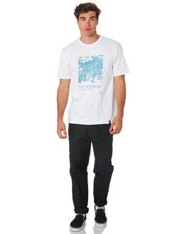 WHITE MENS CLOTHING HUF TEES - TS00585-WHITE