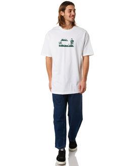 WHITE MENS CLOTHING PASS PORT TEES - POOLGLASSWHT
