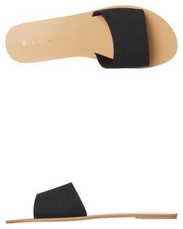 BLACK NUBUCK WOMENS FOOTWEAR BILLINI SLIDES - S452BNUB