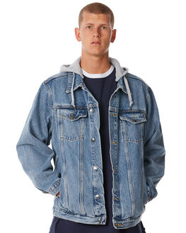 THRIFTED BLUE MENS CLOTHING RUSTY JACKETS - JKM0395THB