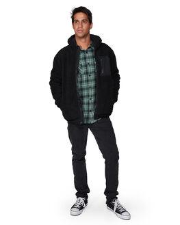 BLACK MENS CLOTHING RVCA JACKETS - RV-R307438-BLK