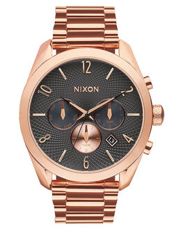 ROSE GOLD GUNMETAL MENS ACCESSORIES NIXON WATCHES - A3662046