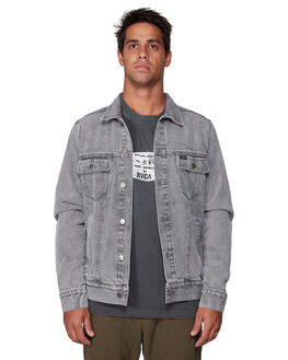 GREY STRIPE MENS CLOTHING RVCA JACKETS - RV-R107435-GST