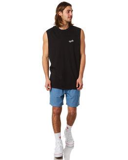 BLACK MENS CLOTHING RPM SINGLETS - 8PMT07ABLK