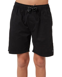 WASHED BLACK KIDS BOYS SWELL SHORTS - S3164231BLACK