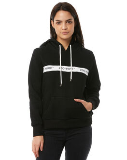 BLACK WOMENS CLOTHING ZOO YORK JUMPERS - ZY-WFA8354BLK
