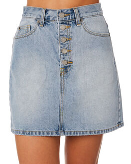 DOWNTOWN BLUE WOMENS CLOTHING DR DENIM SKIRTS - 1910117-I16