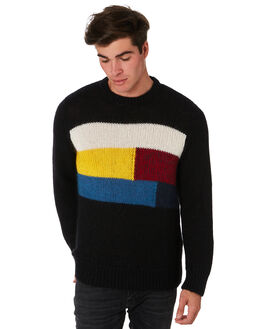 BLACK MENS CLOTHING NUDIE JEANS CO KNITS + CARDIGANS - 150416B01