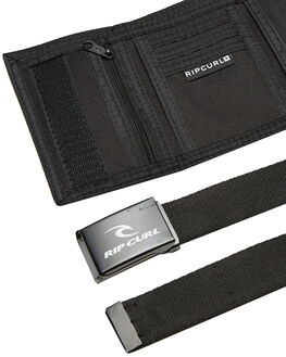 BLACK MENS ACCESSORIES RIP CURL WALLETS - BWUKI10090