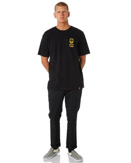 BLACK MENS CLOTHING SPITFIRE TEES - SRCKNBLKY