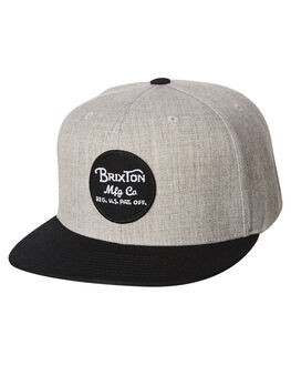 LIGHT HEATHER BLACK MENS ACCESSORIES BRIXTON HEADWEAR - 00375LHGBK