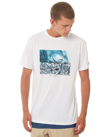WHITE MENS CLOTHING QUIKSILVER TEES - EQMZT03069WBB0