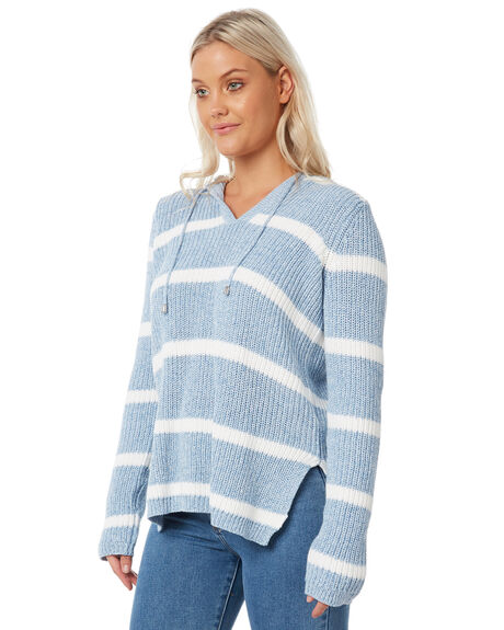 BLUE STRIPE WOMENS CLOTHING SWELL KNITS + CARDIGANS - S8182151BLSTP