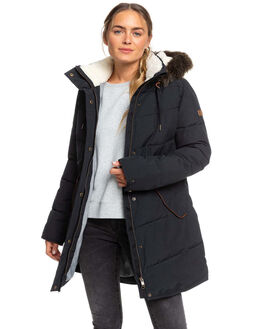 TRUE BLACK WOMENS CLOTHING ROXY JACKETS - ERJJK03289-KVJ0