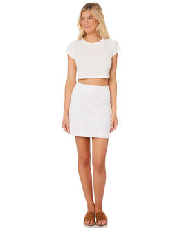 STRIPE WOMENS CLOTHING NUDE LUCY SKIRTS - NU23397STRIPE