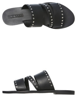 BLACK WOMENS FOOTWEAR SOL SANA SLIDES - SS191S329BLK