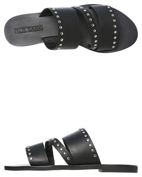 BLACK WOMENS FOOTWEAR SOL SANA SLIDES - SS191S329BLK
