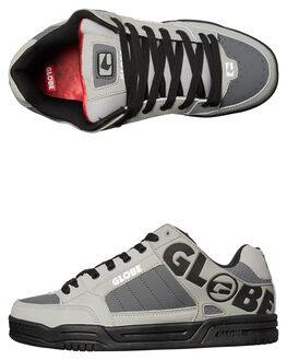 GREY BLACK RED MENS FOOTWEAR GLOBE SNEAKERS - GBTILT-14169