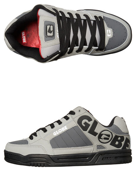 GREY BLACK RED MENS FOOTWEAR GLOBE SNEAKERS - GBTILT-14169