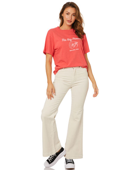 RED WOMENS CLOTHING ROLLAS TEES - 13624160