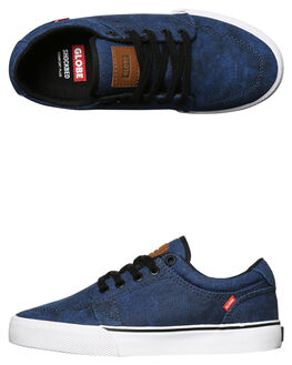 WASHED BLUE KIDS BOYS GLOBE SNEAKERS - GBKGS-12059