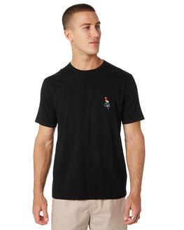 BLACK MENS CLOTHING BARNEY COOLS TEES - 118-CC2-BLK