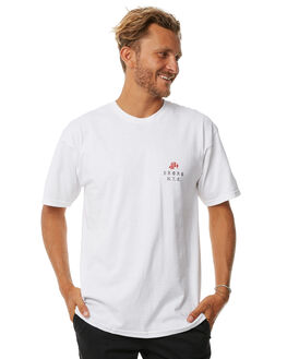 WHITE BLACK MENS CLOTHING 5BORO TEES - ROSELEFTWBLK