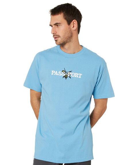 CAROLINA BLUE MENS CLOTHING PASS PORT TEES - PPOLIVETCBLU