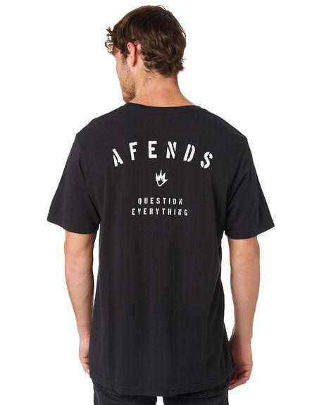 BLACK MENS CLOTHING AFENDS TEES - M191009BLK