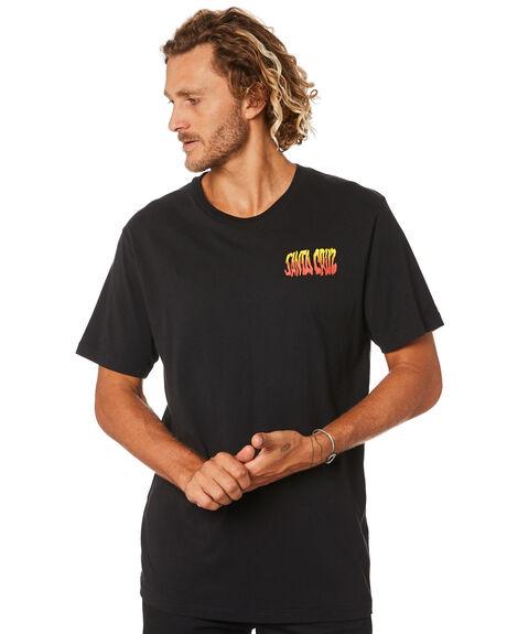 BLACK MENS CLOTHING SANTA CRUZ TEES - SC-MTB0621BLK
