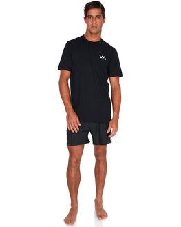 BLACK MENS CLOTHING RVCA SHORTS - RV-R381326-BLK