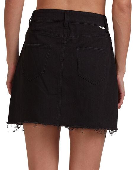 WASHED BLACK WOMENS CLOTHING BILLABONG SKIRTS - BB-6503320-WAA
