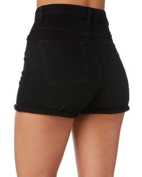 OVERDYED BLACK WOMENS CLOTHING ABRAND SHORTS - 70058-062