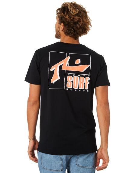 BLACK MENS CLOTHING RUSTY TEES - TTM2031BLK