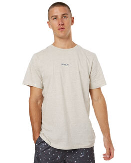 OATMEAL MARLE MENS CLOTHING RVCA TEES - R171043OMRL