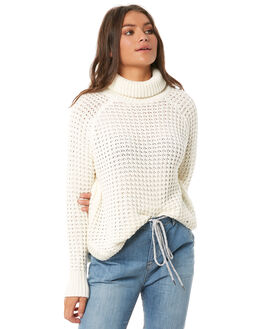 MARSHMALLOW WOMENS CLOTHING ROXY KNITS + CARDIGANS - ERJSW03265WBT0