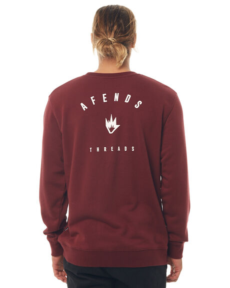 MAROON MENS CLOTHING AFENDS JUMPERS - M181502MRN