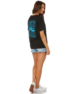 BLACK WOMENS CLOTHING RUSTY TEES - TTL1088BLK