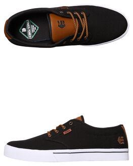 BLACK RAW MENS FOOTWEAR ETNIES SKATE SHOES - 4101000323-536