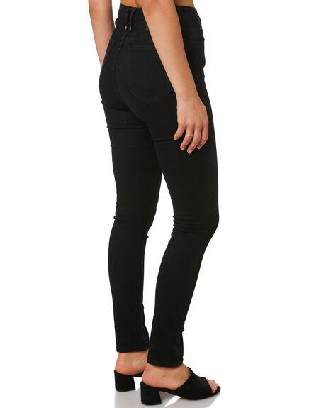 BLACK WOMENS CLOTHING THRILLS JEANS - WTDP-427BBLK