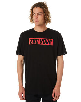 BLACK MENS CLOTHING ZOO YORK TEES - ZY-MTB8108BLK