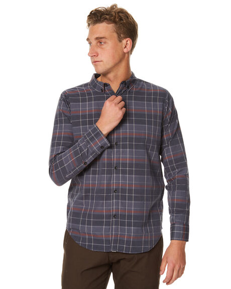 BLUE MENS CLOTHING OURCASTE SHIRTS - W1002BLU