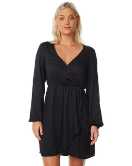 BLACK OUTLET WOMENS BILLABONG DRESSES - 6586479BLK